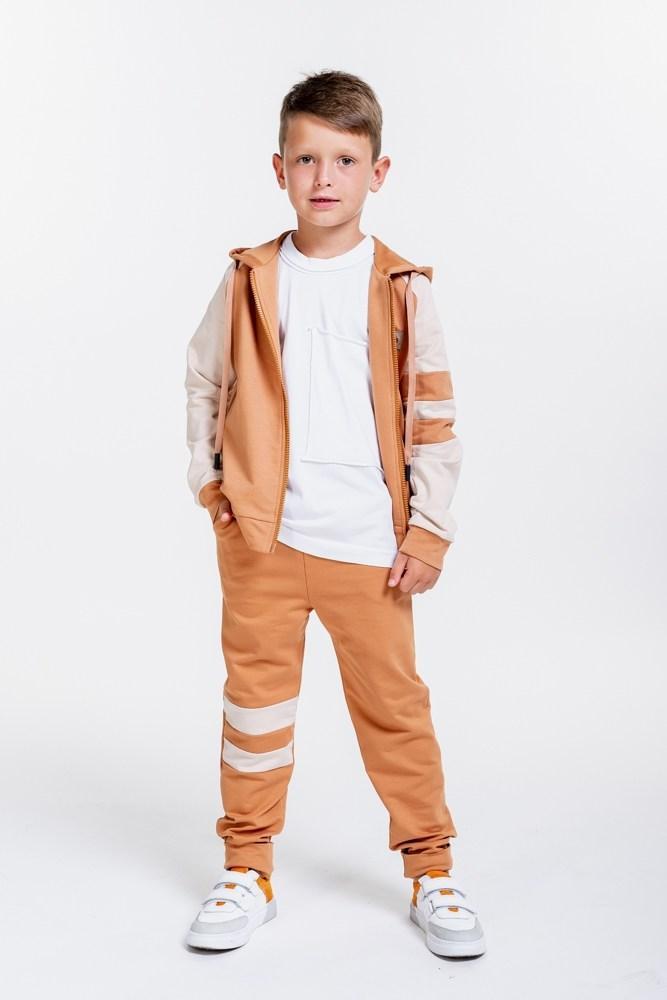 Детский спортивный костюм с кофтой на молнии (Терракотовый)