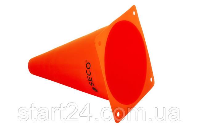 Тренировочный конус SECO 18 см цвет: оранжевый , фото 2