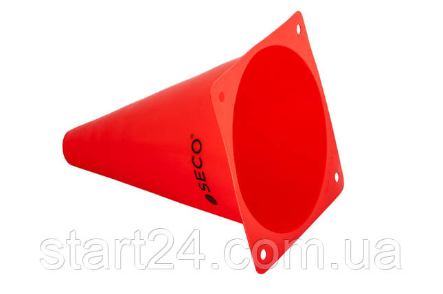 Тренировочный конус SECO 18 см цвет: красный , фото 2
