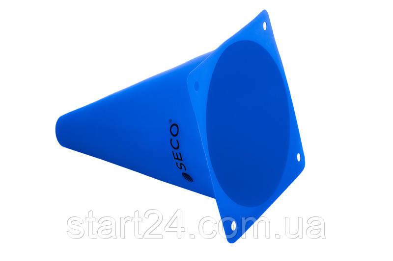 Тренировочный конус SECO 18 см цвет: синий