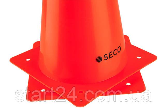 Тренировочный конус SECO 32 см цвет: оранжевый , фото 2