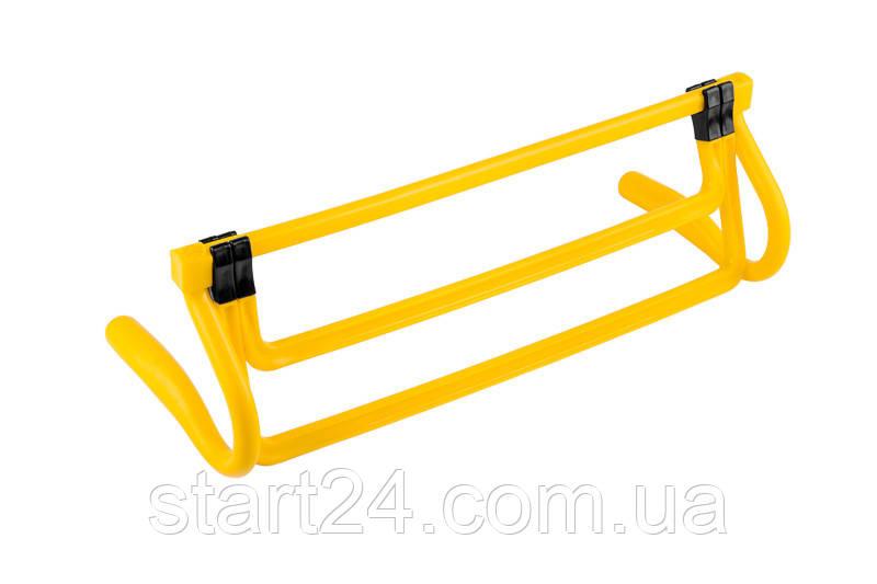 Раскладной беговой барьер SECO цвет: желтый