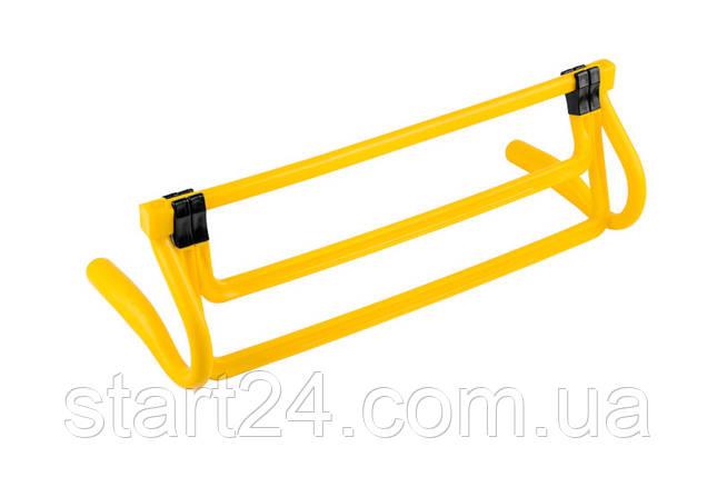 Раскладной беговой барьер SECO цвет: желтый , фото 2