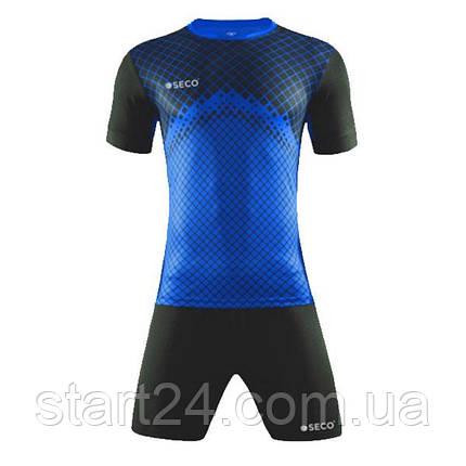 Форма футбольная SECO Geometry Set цвет: черный, синий, фото 2