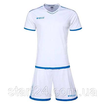 Форма футбольная SECO Basic Set цвет: белый, синий, фото 2