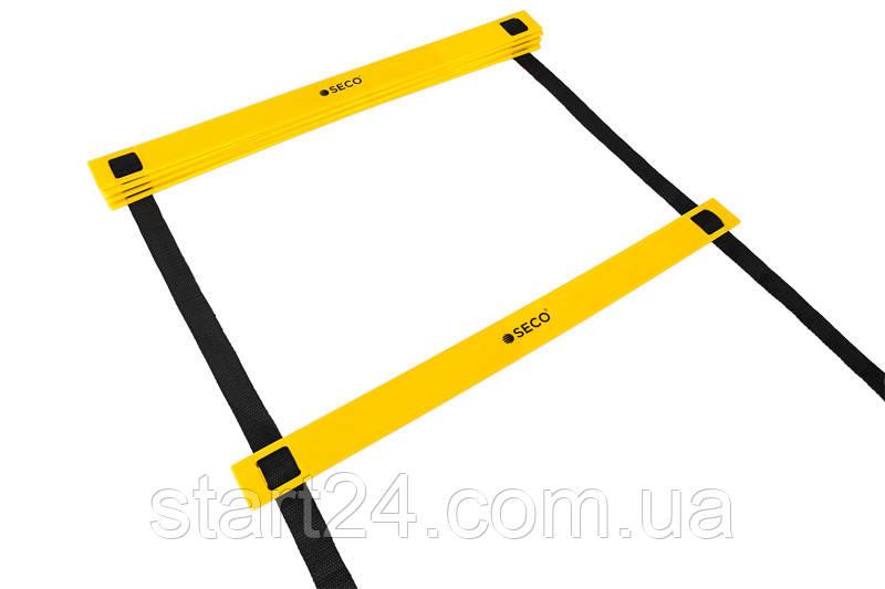 Беговая тренировочная лестница 8 ступеней 4 м цвет: желтый SECO