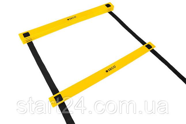 Беговая тренировочная лестница 8 ступеней 4 м цвет: желтый SECO , фото 2