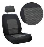 Чехлы автомобильные в салон Tuning А черно-серые черточки для небольших сидений