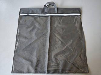 Упаковка для подушки 70х70 см усиленная ручка (две ручки) ПВХ 90 Серый