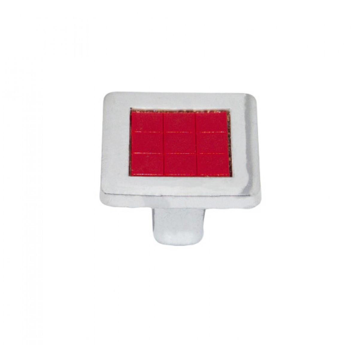 Ручка мебельная Ozkardesler 6064-06/038 MADRID DUGME Хром-Красный