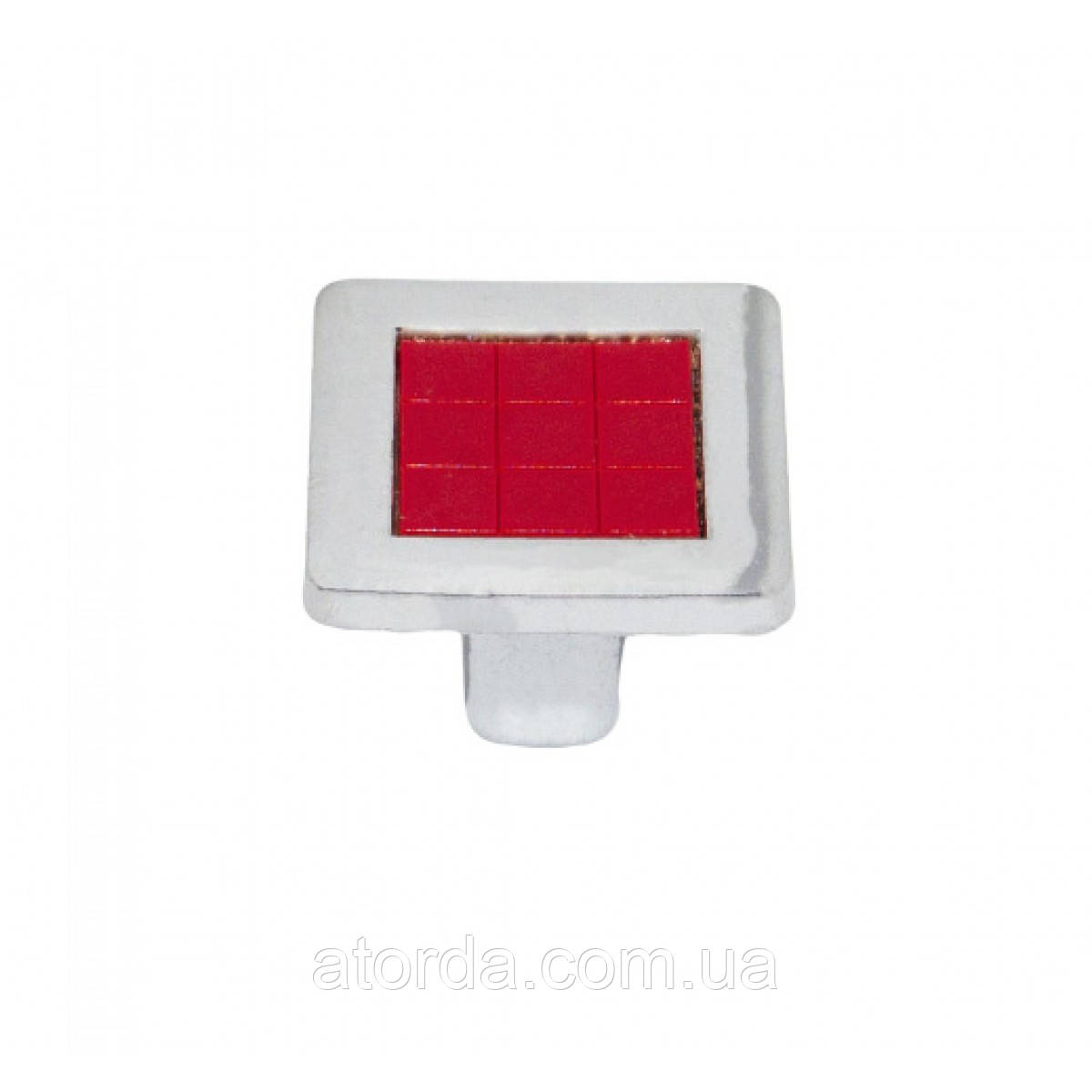 Ручка меблева Ozkardesler 6064-06/038 MADRID DUGME Хром-Червоний