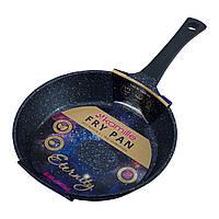 Сковорода Kamille ETERNITY Черный 28см из литого алюминия с антипригарным покрытием для индукции и газа KM-4298B, фото 1