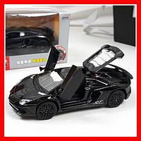 Инерционная машинка Lamborghini металлическая, свет, звук, двери, багажник открываются, масштаб 1:32