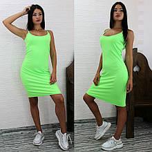 Салатовое платье летнее
