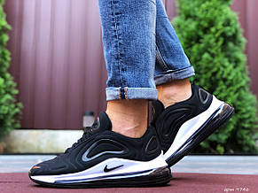Мужские кроссовки Nike Air Max 720,черно белые,текстиль, фото 2