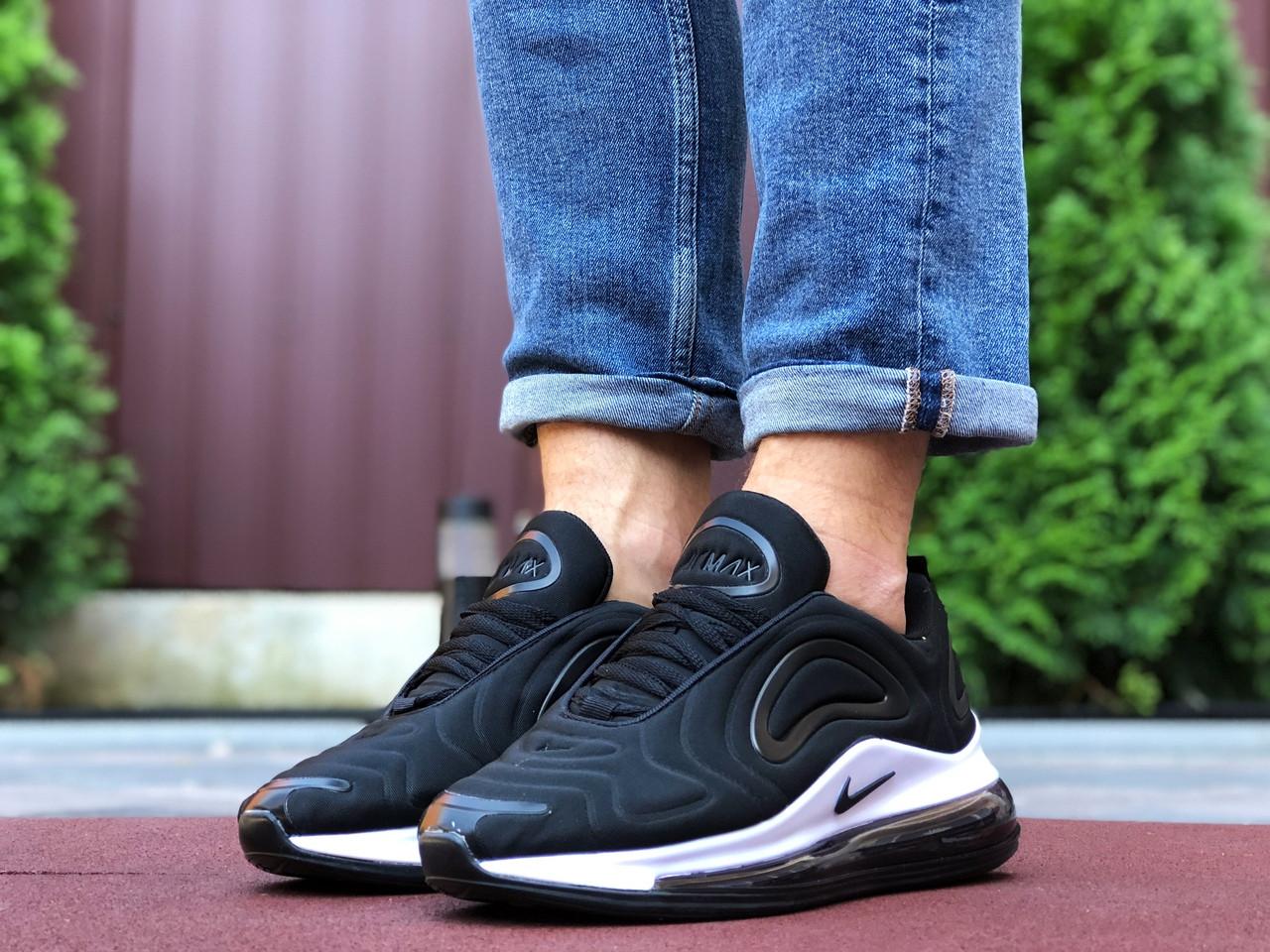 Мужские кроссовки Nike Air Max 720,черно белые,текстиль
