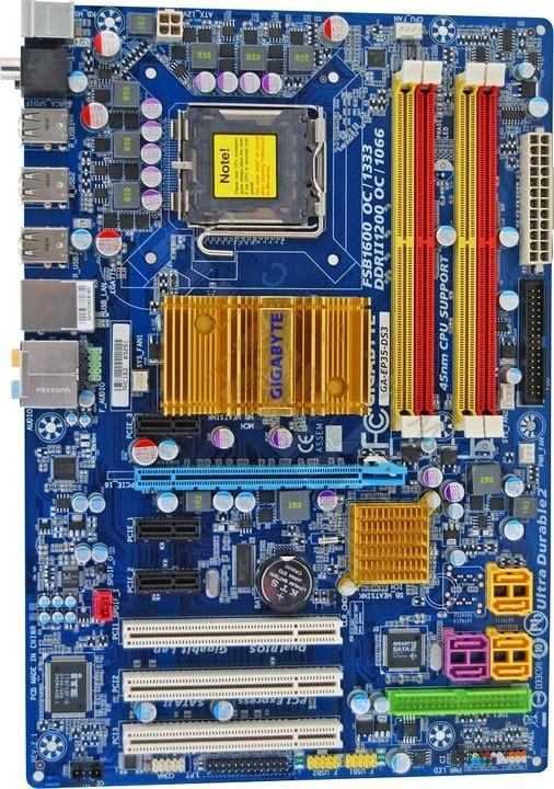 Плата S775 GIGABYTE GA-EP35-DS3 на P35 Chip на DDR2 Понимает ЛЮБЫЕ 2-4 ЯДРА ПРОЦЫ 775 Процы