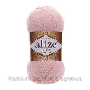 Пряжа Alize Diva Stretch Розовый