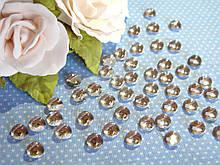 """""""Крапелька роси"""" клейовий декор, 8 мм, колір сріблястий - прозорий, ціна 12 грн - 50 шт"""