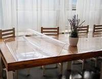 Силиконовая пленка гибкое стекло 3000 мкм (3 мм) ширина 0.6 м. Прозрачная.