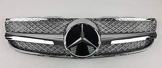 Решетка радиатора Mercedes SL R230 (06-08) стиль AMG (хром)