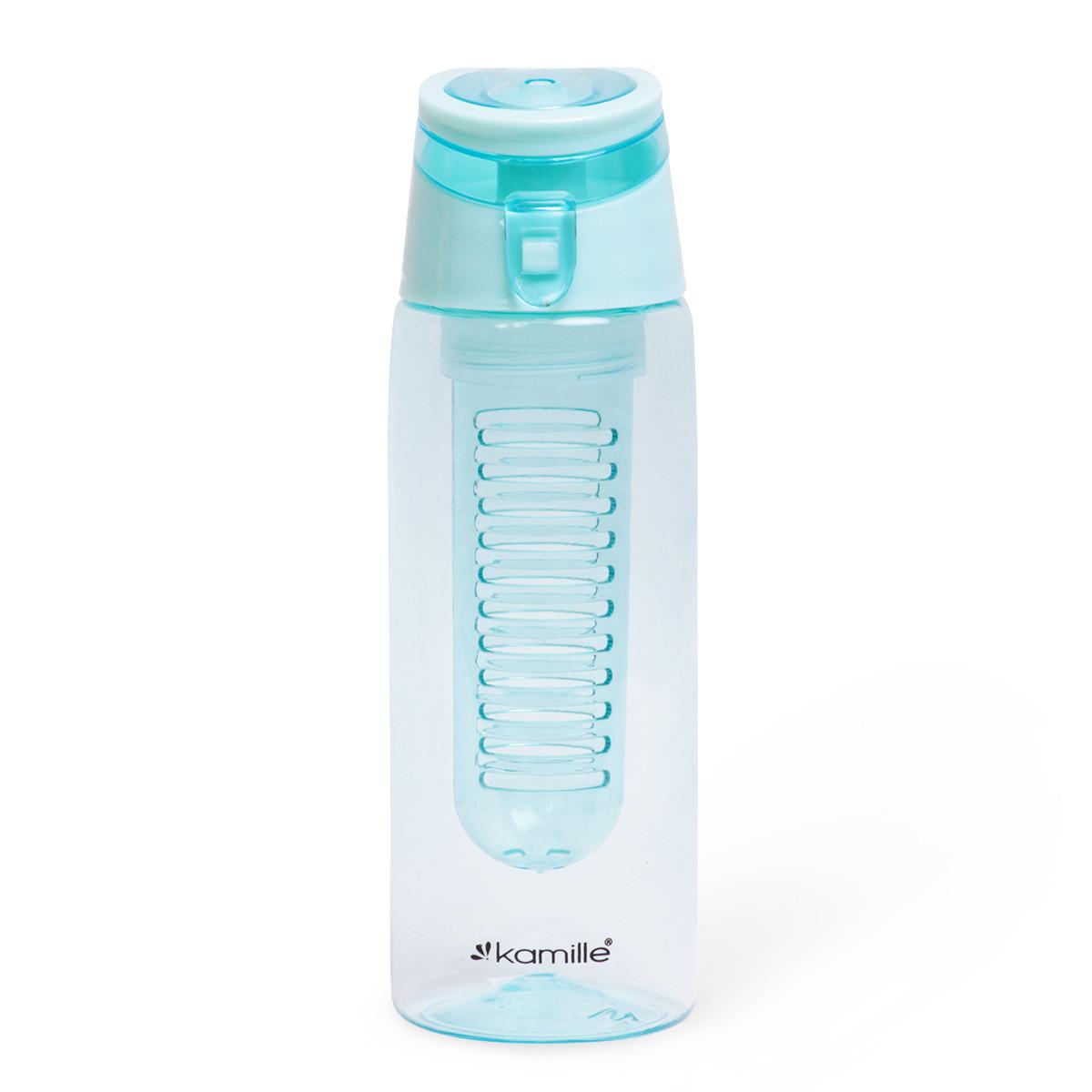 Спортивна пляшка для води Kamille Блакитний 660ml з пластику KM-2303GL
