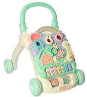 Детская каталка-ходунки, интерактивные, музыкальные, с игровой панелью, Fanny Baby, 648A-48