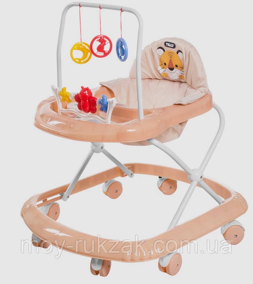Детская каталка-ходунки, интерактивные, Tilly Smile, T-4210-BEIGE