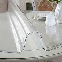 Силиконовая пленка гибкое стекло 1500 мкм (1.5 мм), ширина 1.40 см. Прозрачная.