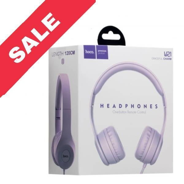 Bluetooth навушники HOCO W21 Violet
