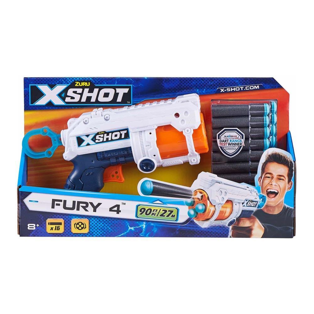 Бластер X-Shot швидкострільний EXCEL FURY 16 патронів