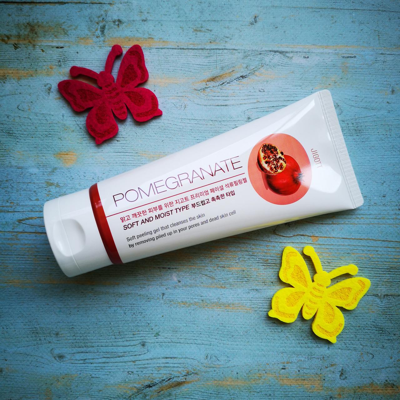 Пилинг-гель премиум класса с экстрактом граната JIGOTT Premium Facial Pomegranate Peeling Gel