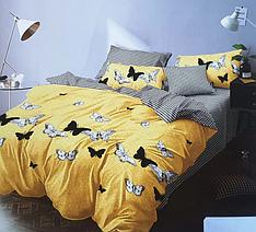 """Евро комплект постельного белья """"Бабочки монарх"""""""