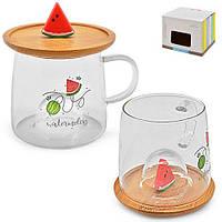 "Чашка с крышкой-подставкой ""Watermelon"" 280мл"
