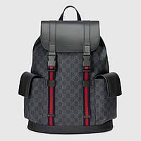 Ранец Gucci Soft GG Supreme Backpack Black/Grey
