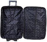 Набір дорожній якісний валізу на коліщатках і кейс для подорожей середній чорний синій, фото 4