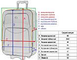 Набір дорожній якісний валізу на коліщатках і кейс для подорожей середній чорний синій, фото 5
