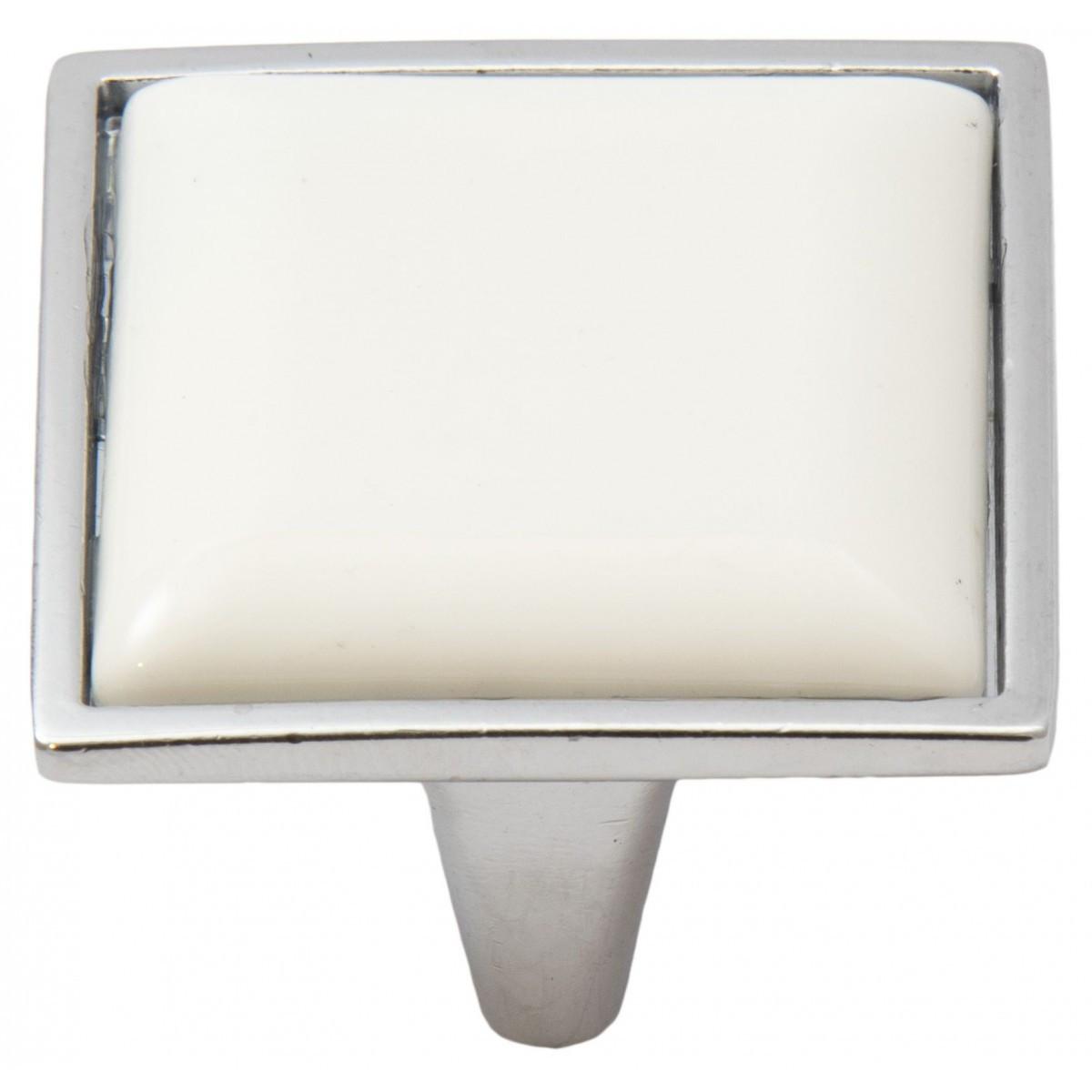 Ручка меблева Ozkardesler 5352-06/46 кераміка 32мм PORSELEN Хром