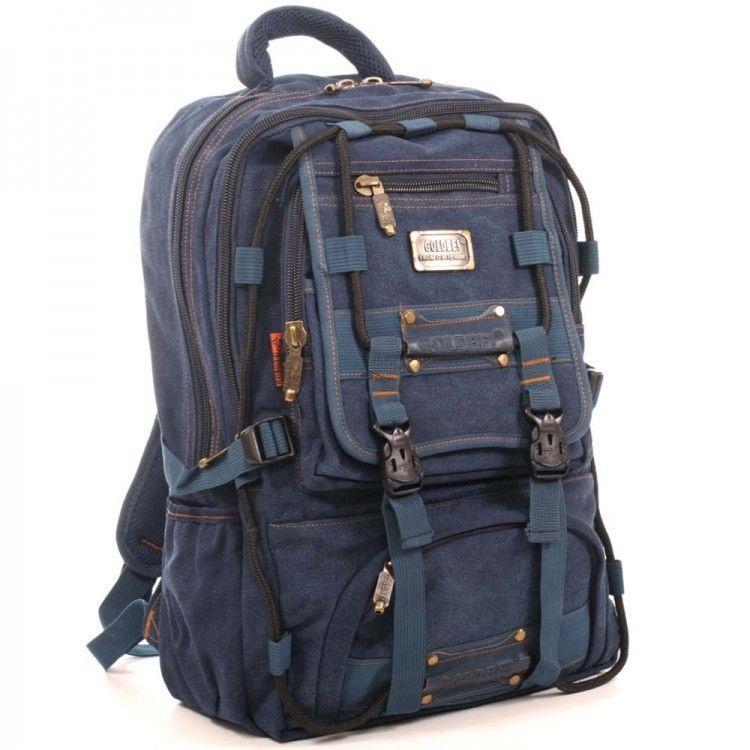 Джинсовий підлітковий рюкзак Gold Be 35 x 50 x 19 см Синій (98209/2)