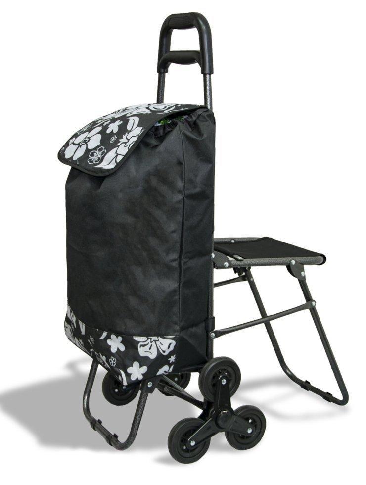 Тачка-сумка хозяйственная с тройным колесом и стулом 1075