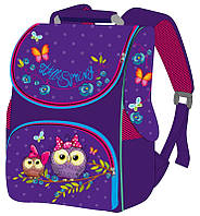 Ранець (рюкзак) - короб ортопедический  для девочки - Сова, размер 33х26х14 см Smile 988601