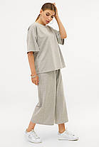 Модный костюм из хлопка Бермуды и футболка оверсайз S M L XL, фото 2
