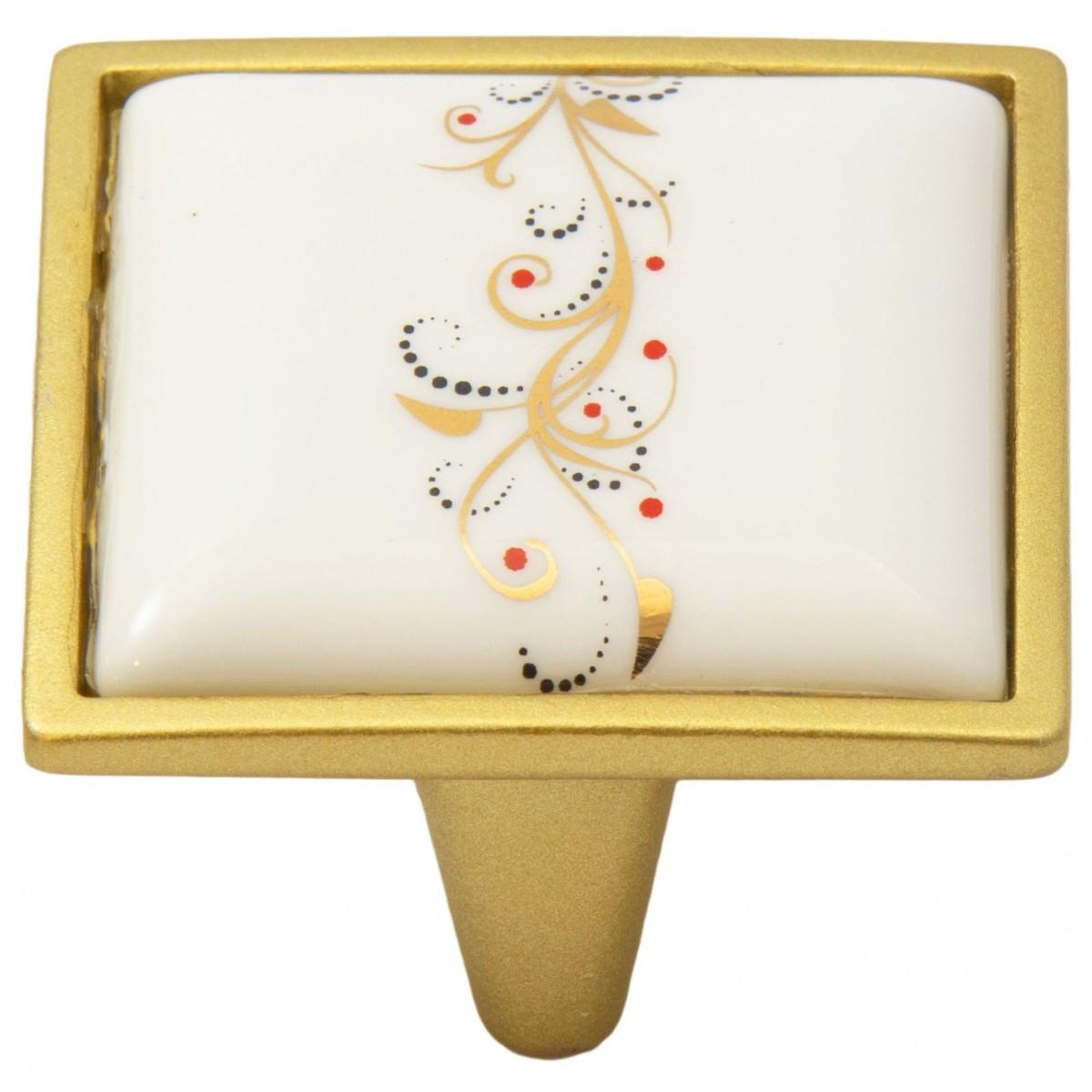 Ручка мебельная Ozkardesler 5352-04/41 керамика 32 мм PORSELEN Матовое Золото-Лоза