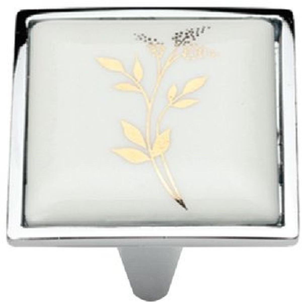 Ручка мебельная Ozkardesler 5352-06/40 керамика 32мм PORSELEN Хром-Колос