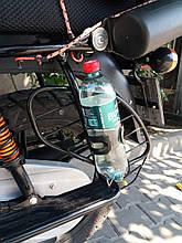 Кронштейн + держатель для бутылки мото/вело Motowolf универсальный (2 в 1)
