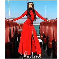 Вечернее макси платье с молнией от плеча до бедра (2 цвета) 08154, фото 1