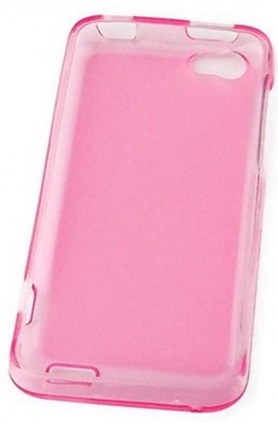 Hollo пластиковая накладка для HTC ONE V розовая глянцевая