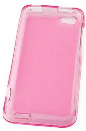 Hollo пластиковая накладка для HTC ONE V розовая глянцевая, фото 2