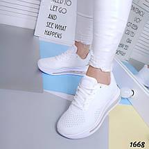 Кроссовки Летние Легкие текстильные белые, фото 2