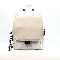 Рюкзак средний женский из натуральной кожи городской белый, фото 1